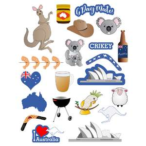 australia-themed planner stickers