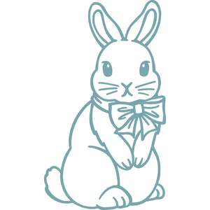 bunny with bow