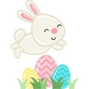 jumping easter bunny