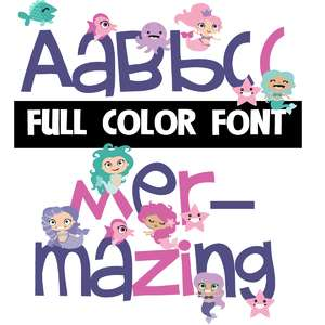 mer-mazing color font
