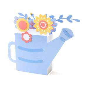 3d floral watering can