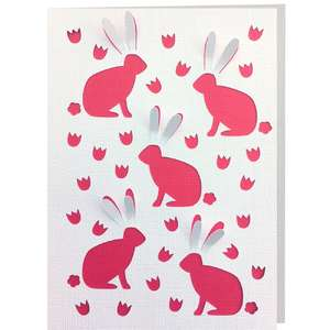 rabbit 3d card
