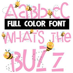 what's the buzz color font