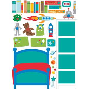 dollhouse stickers space bedroom