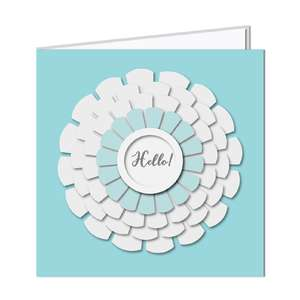 3d layered flower card - hello