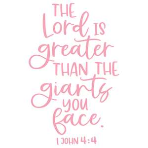 the lord is greater than the giants you face