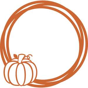 pumpkin circle frame