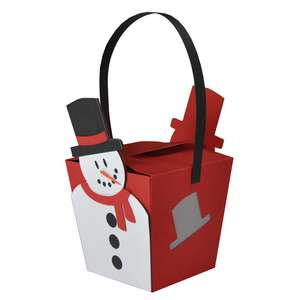 hanging snowman box ornament lantern