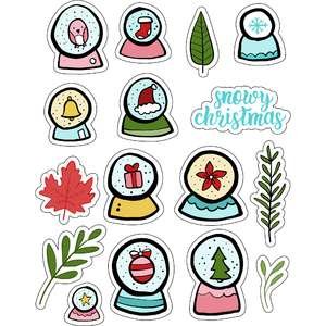 ml snowglobes christmas stickers