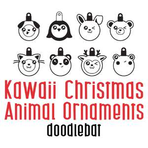 kawaii christmas animal ornaments doodlebat