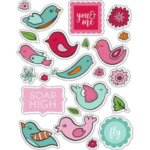 ml birds and spring stickers