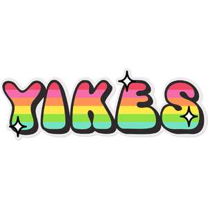 yikes rainbow sticker