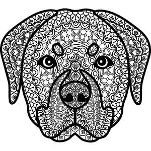 rottweiler dog zentangle mandala