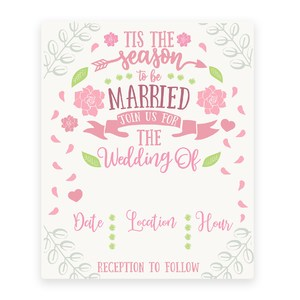 wedding print and cut invitation