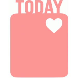 today heart 3x4 life card