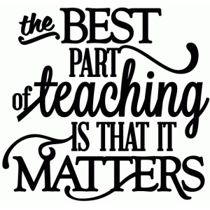 best part of teaching it matters - vinyl phrase