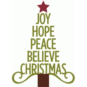 joy hope peace christmas tree