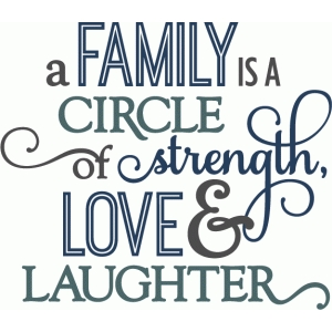 family circle of strength - layered phrase