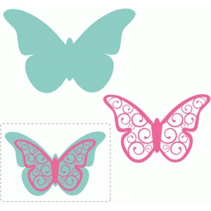 swirl layered butterfly embellishment