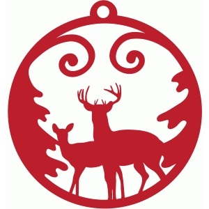 deer christmas tag