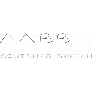 squished sketch font