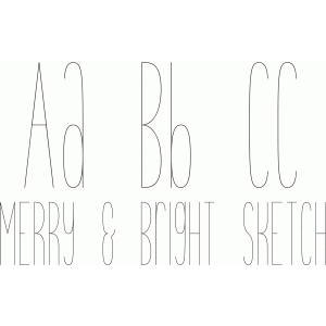 merry & bright sketch font
