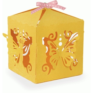 3d intricate butterfly box
