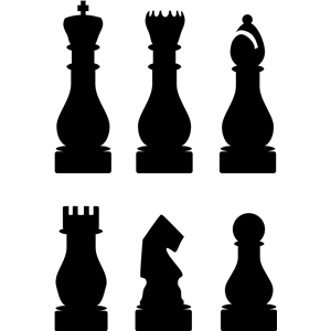 set of 6 chess pieces