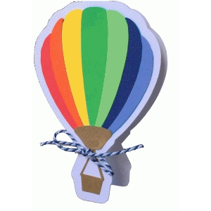 hot air balloon shadow card