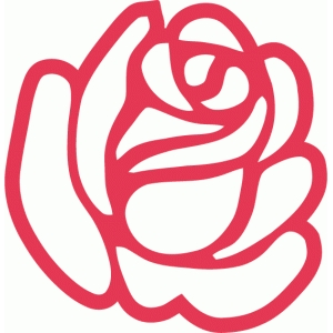17 best simple stylised rose images on Pinterest ... |Rose Cut Out