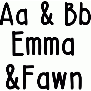 emma and fawn font