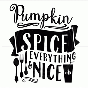 pumpkin spice and everything nice phrase