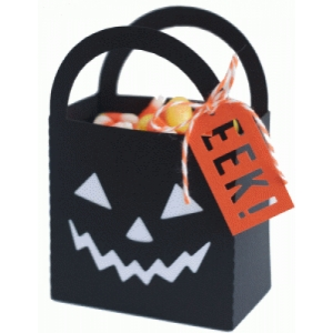 scary pumpkin bag