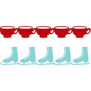 ice skates and cup borders
