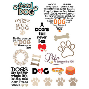 dog-themed stickers