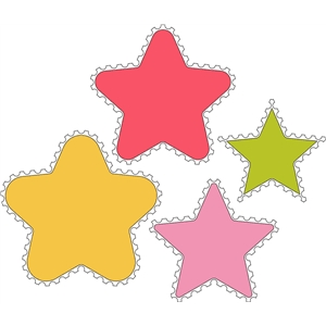 8 piece star stamp set