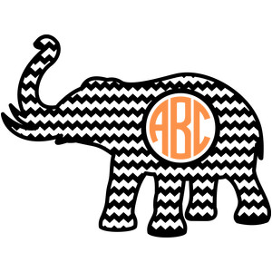 elephant chevron monogram