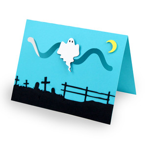 ghost halloween motion card