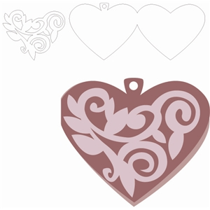 locket shaped card