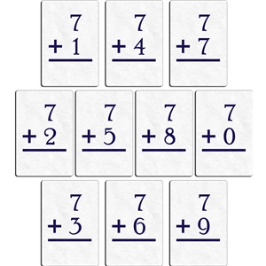 flashcard - plus 7