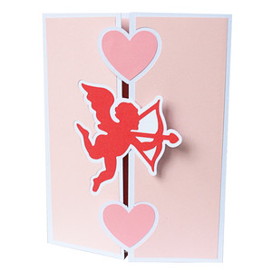 cupid trifold card