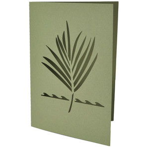 palm frond card