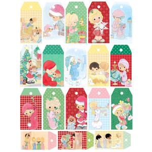 precious moments christmas tags