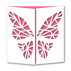 gate fold butterfly card