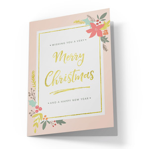 cute merry christmas card