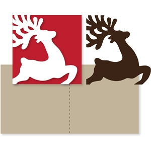 deer jumping card overlay