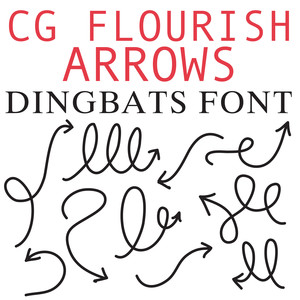 cg flourish arrow dingbats