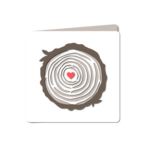 tree rings love cut out card