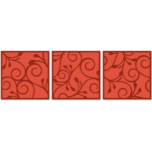 3 flourished panels
