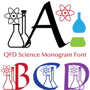 qfd science monogram font